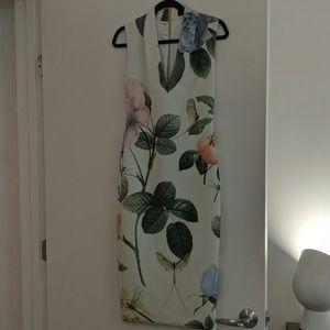 Ted Baker Blue Floral Midi Dress
